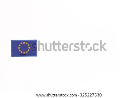 Flag of the EU, isolated on white background - stock photo
