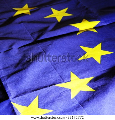 flag of the european union can be used as background - stock photo