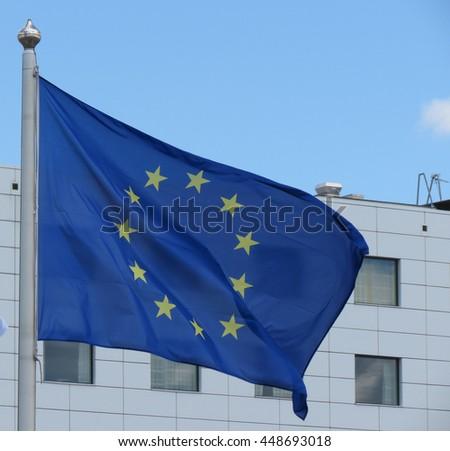 Flag of the European Union (EU) aka Europe - stock photo