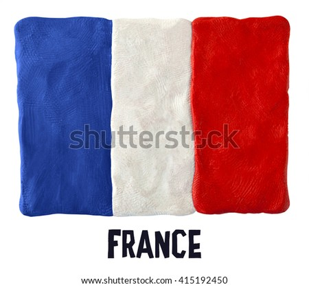 Flag of the France  - stock photo