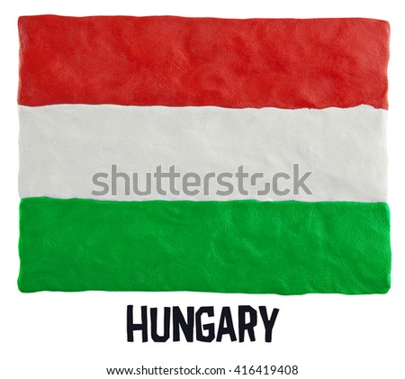 Flag of the Hungary - stock photo