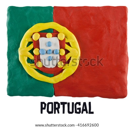 Flag of the Portugal  - stock photo