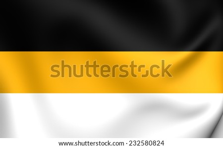 Flag of the Russian Empire. Close Up.    - stock photo