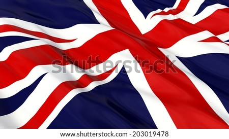 Flag of the UK. - stock photo