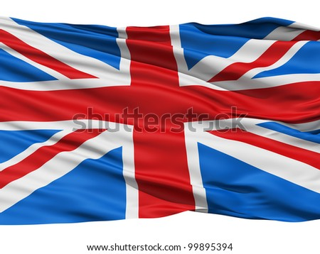 Flag of the United Kingdom Of Great Britain and Northern Ireland, also known as the Union Jack. - stock photo