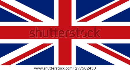 Flag of the United Kingdom of Great Britain and Northern Ireland. Union Jack. Accurate dimensions, proportions and colors
