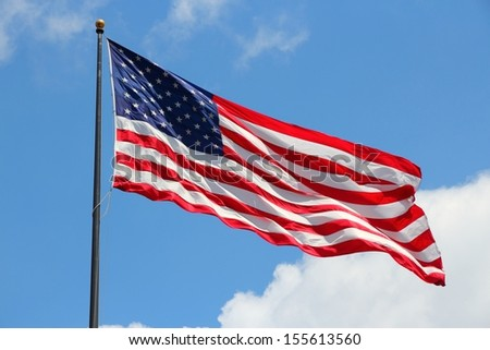 Flag of the United States, famous star spangled banner