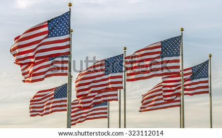 flag of the United States of America, often referred to as the American flag - stock photo