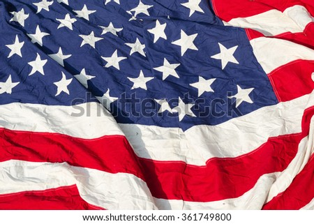 Flag of the United States Old Fabric