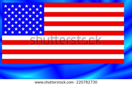 Flag of the United States on the abstract background - stock photo