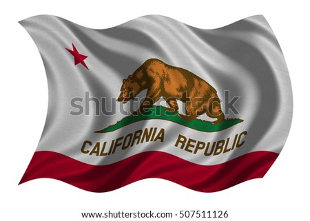 Flag Us State California American Patriotic Stock Illustration
