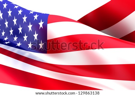 Flag of the USA. 3d rendered Illustration. - stock photo
