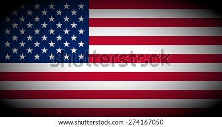 Flag of the USA (United States of America) - isolated illustration vignetted - stock photo