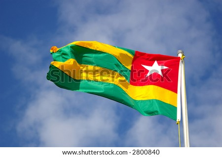 flag of togo - stock photo