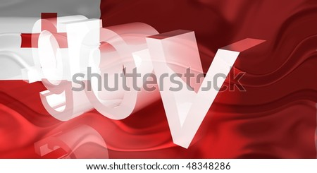 Flag of Tonga, national country symbol illustration wavy gov government website