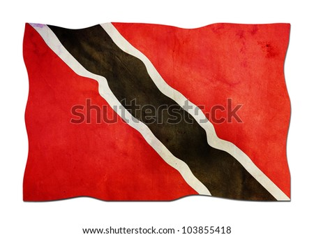 Flag of Trinidad and Tobago made of Paper - stock photo