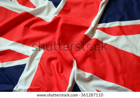 Flag of UK, British flag, - stock photo