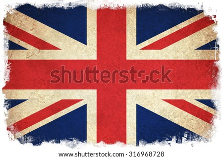 Flag of United Kingdom / England country - stock photo