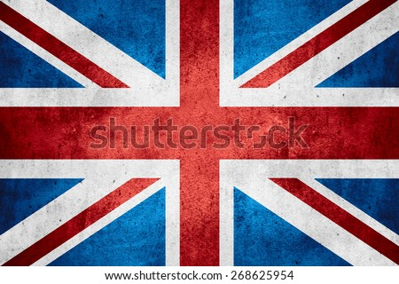 flag of United Kingdom or British banner on rough pattern texture background, Great Britain - stock photo