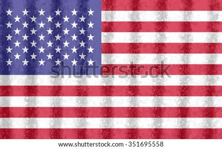 flag of United States - stock photo