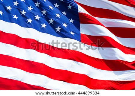 flag of united states.closeup background