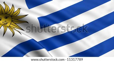 Flag Of Uruguay - stock photo