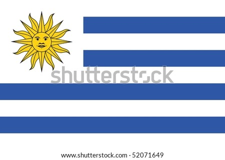Flag of Uruguay - stock photo