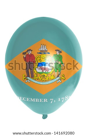 flag of us state of delaware balloon - stock photo