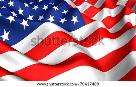 Flag of USA. Close up. - stock photo