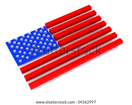 Flag of USA. 3d - stock photo