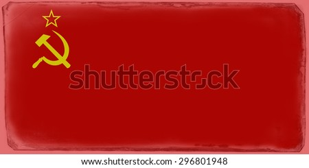 Flag of USSR - Union of Soviet Socialist Republics - stock photo