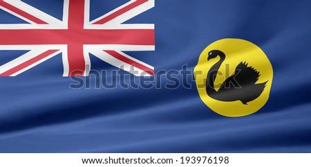 Flag of Western Australia - stock photo