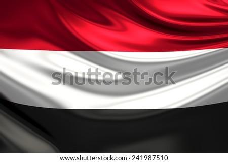 Flag of Yemen. - stock photo