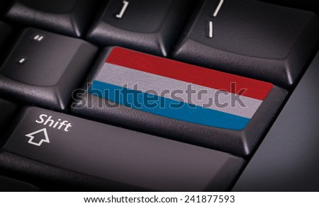 Flag on button keyboard, flag of Luxembourg