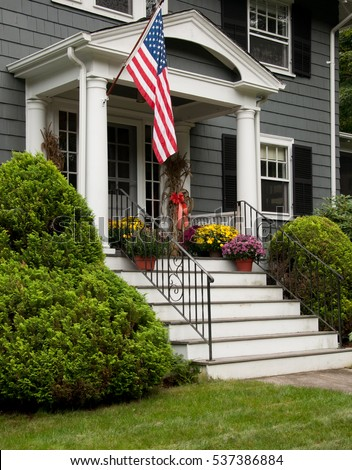 American Flag House Stock Images Royalty Free Images