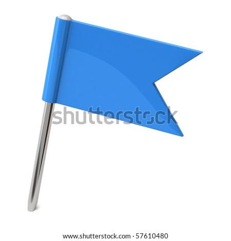 Flag pin - stock photo