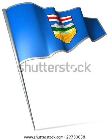 Flag pin - Alberta (Canada) - stock photo