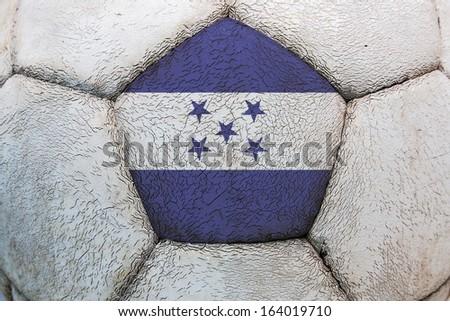 flag soccer honduras - stock photo