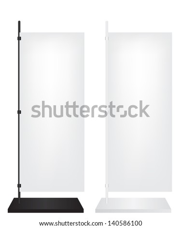 Flag stand banner - stock photo