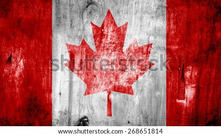 flag  texture on grunge wall - stock photo
