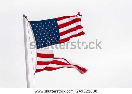 Flag, USA divided - stock photo