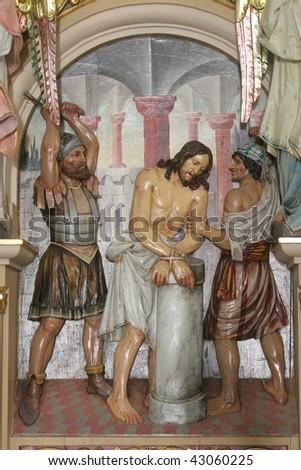 Flagellation of Christ - stock photo