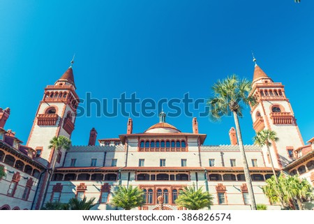 Flagler College at Saint Augustine, Florida. - stock photo