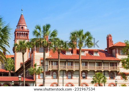 Flagler College in St. Augustine, Florida, USA. - stock photo