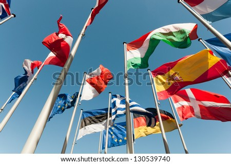 Flags - stock photo