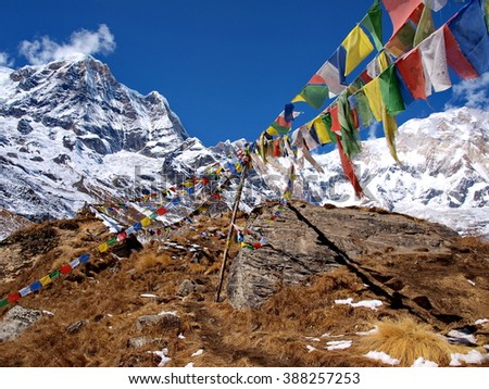 flags annapurna sanctuary