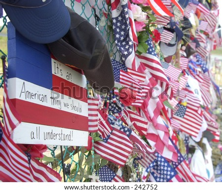 Flags at Shanksville crash site.