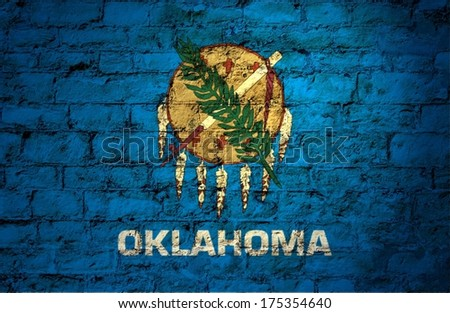 Flags from the states of the  USA ; the flag of oklahoma - stock photo