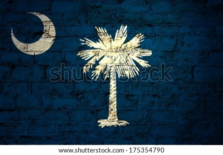 Flags from the states of the  USA ; the flag of South carolina - stock photo