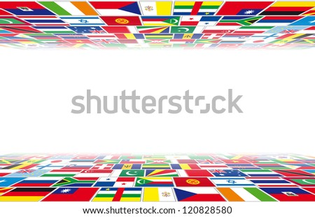Flags in perspective - stock photo